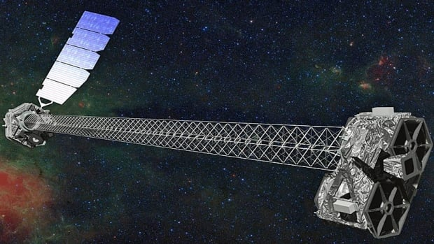 This image provided by NASA shows an artist rendering of the space agency's latest X-ray telescope, NuStar.