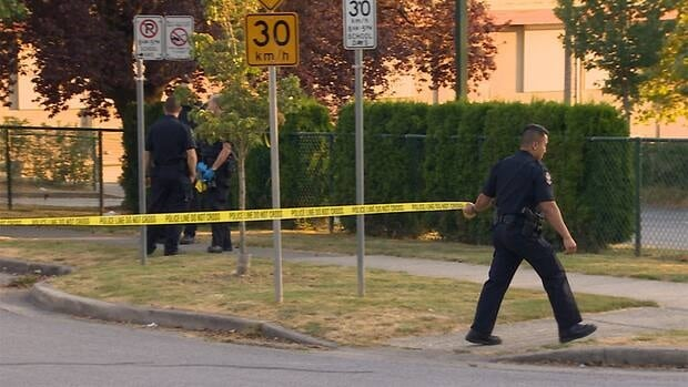 Vancouver police were on the scene of a possible targeted shooting near at South Vancouver elementary school Tuesday evening.