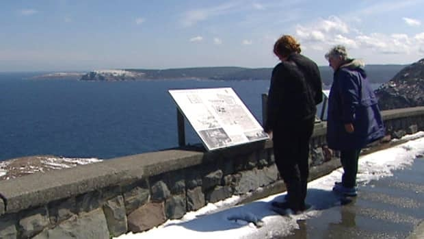 Tourists come to Signal Hill, a national historic site, for commanding views of St. John's and the Atlantic Ocean.