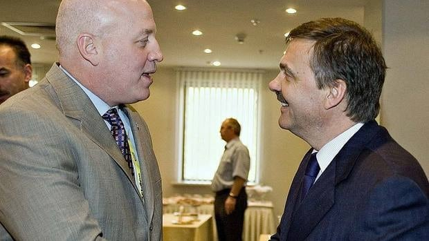 "IIHF president Rene Fasel, seen here with NHL deputy commissioner Bill Daly, Fasel says ""key points"" of the European summit will include co-operation with the NHL and the NHL players' union."