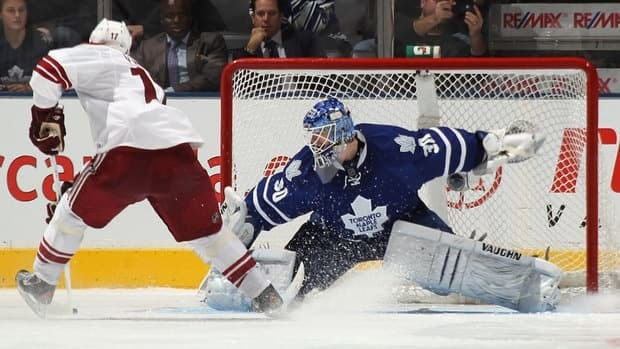 Ben Scrivens played 12 games for the Maple Leafs last season, posting a record of 4-5-2 with a 3.13 goals against average and a .903 save percentage.