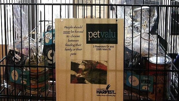 Reenders and Rivergrove Pet Valu stores are collecting donations for Winnipeg Harvest clients with pets.