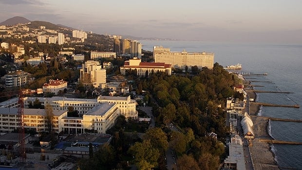 Russia's Black Sea resort of Sochi. Russia's secret service says it has foiled terror attack plans in Sochi ahead of the 2014 Winter Games.
