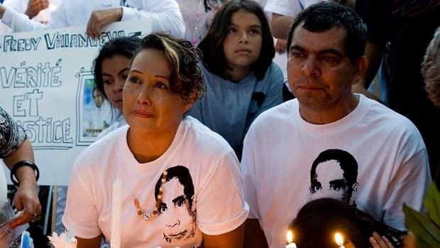 Gilberto and Lilian Villanueva, parents of Fredy Villanueva, attend a vigil in 2009, at at the site where their son was killed.
