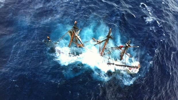 One crew member of the HMS Bounty is dead and the captain is still missing.