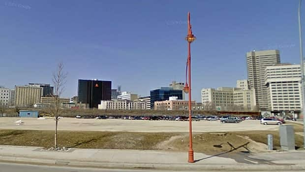 This city-owned parking lot was the site being eyed for the proposed water park.