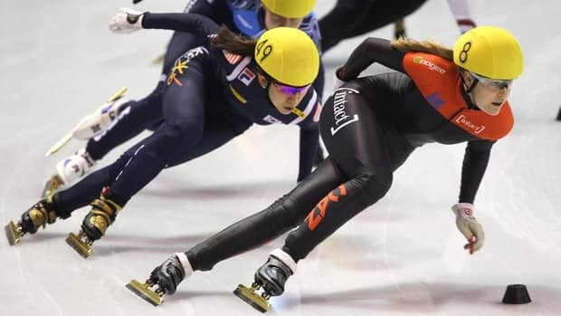 Canada's Jessica Gregg, right, shown here competing last weekend in Calgary, claimed silver in the women's sprint on Saturday in Montreal.