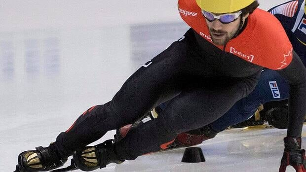 Canada's Charles Hamelin won his 500-metre qualification heat with a time of 42.034 seconds on Friday at a World Cup short-track speedskating meet in Nagoya, Japan.