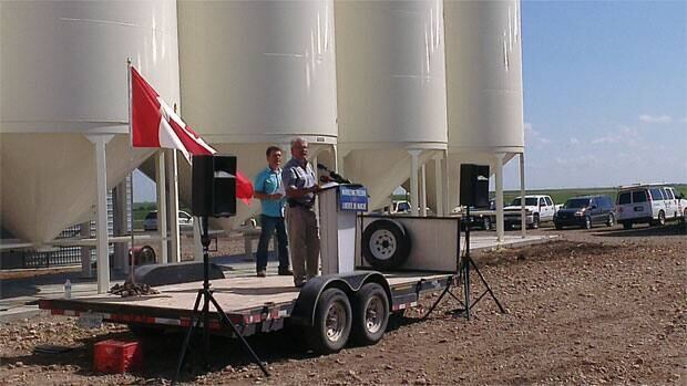 Federal Agriculture Minster Gerry Ritz was on a farm near Pense, Sask. to mark the one year anniversary of the end of the Wheat Board monopoly.