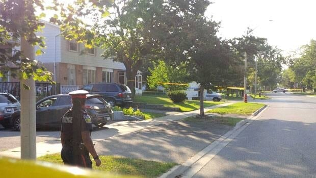 Man shot in the chest in Malton, Ont. Saturday August 17, 2013.