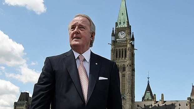 Former prime minister Brian Mulroney leaves Parliament Hill Wednesday. Mulroney was in Ottawa to speak at an event at the Chateau Laurier.
