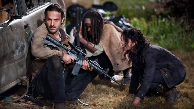 University of California, Irvine students probably won't have as tough a final exam as Andrew Lincoln, Danai Gurira and Melissa Ponzio seen here in a scene from The Walking Dead.