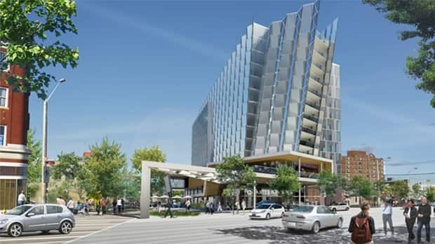 The 220-suite hotel, at 96 Street and Jasper Avenue, will overlook the river valley.