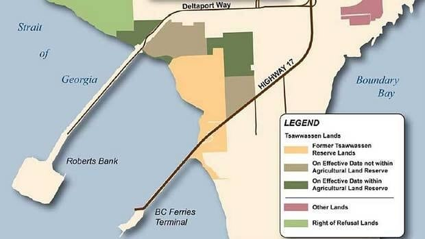 The Tsawwassen First Nation land use plan was developed after the band signed treaty with the B.C. government in 2007.