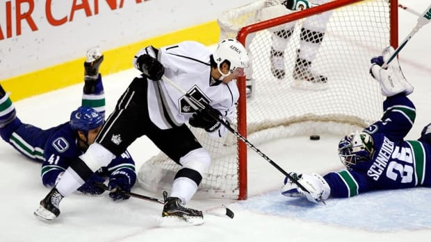 The Los Angeles Kings and gritty forward Jordan Nolan have agreed to a new two-year deal. Nolan had 46 penalty minutes and scored two goals, including this one against the Vancouver Canucks in early March.