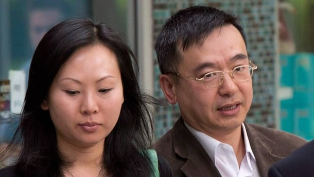 Franco Orr, pictured with his partner Ling Nicole Huen, was found guilty of human trafficking in June. Huen was found not guilty on all charges against her. (Jonathan Hayward/CP)