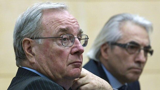 Former Prime Minister Paul Martin and former AFN chief Phil Fontaine listen to a question during a discussion on Indigenous governance in a new century at Ryerson University in Toronto Tues. Jan. 25, 2011.