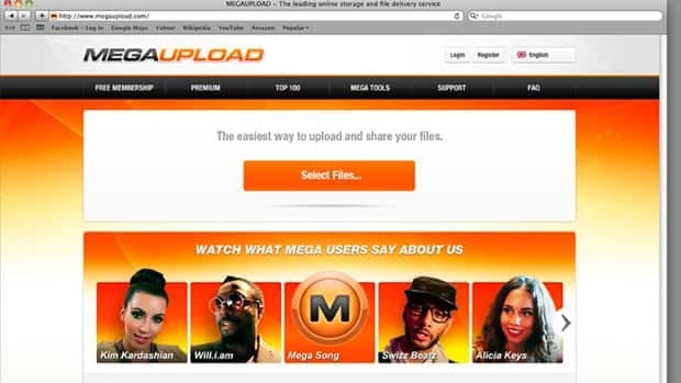 The homepage of the website Megaupload.com., one of the world's largest file-sharing sites, was shut down by federal prosecutors in Virginia.