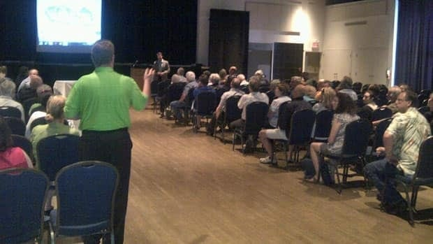 A meeting Monday night in Sudbury saw many people voice concerns both for and against a proposed condominium in downtown Sudbury. Those against the development want to see the green space preserved.