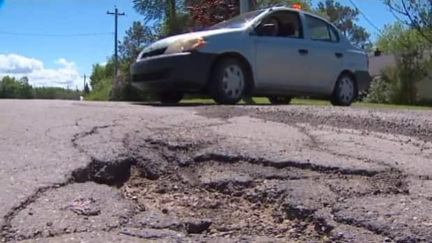 The crumbling pavement on Cape John Road clinched its title as the worst road in the Atlantic region.