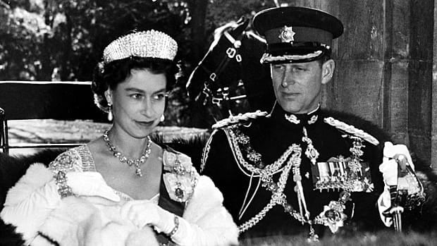 When Queen Elizabeth came with Prince Philip to Canada in 1957, the visit included her first live television broadcast.