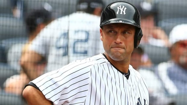 Derek Jeter of the New York Yankees during the game against the Kansas City Royals on July11, 2013 at Yankee Stadium in New York City.