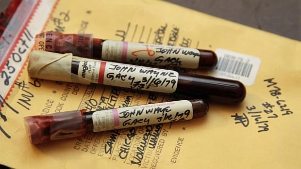 Three vials of mass murderer John Wayne Gacy's blood were recently discovered by Cook County Sheriff's detective Jason Moran. The sheriff's office is creating DNA profiles from the blood of Gacy and other executed killers and putting them in a national database of profiles.