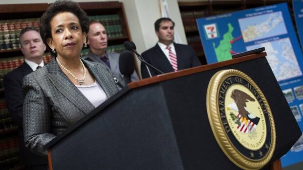 Loretta Lynch, U.S. attorney for New York, says that where other people saw citizens of the world, the alleged perpretrators of an international penny stock fraud scheme saw only potential marks.