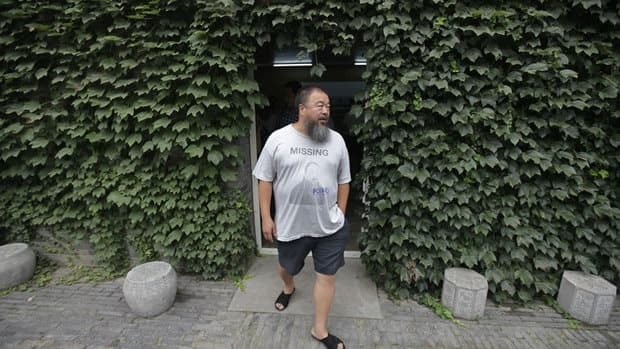 Ai Weiwei, shown outside his Beijing studio earlier this year, is No. 3 and the top artist on the Art Review Power 100 list.