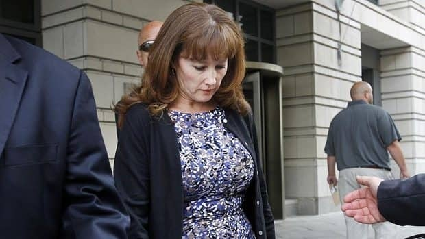 Eileen McNamee, the estranged wife of Brian McNamee, the former trainer for former major league pitcher Roger Clemens, leaves federal court in Washington on Wednesday after testifying in Clemens's perjury trial.