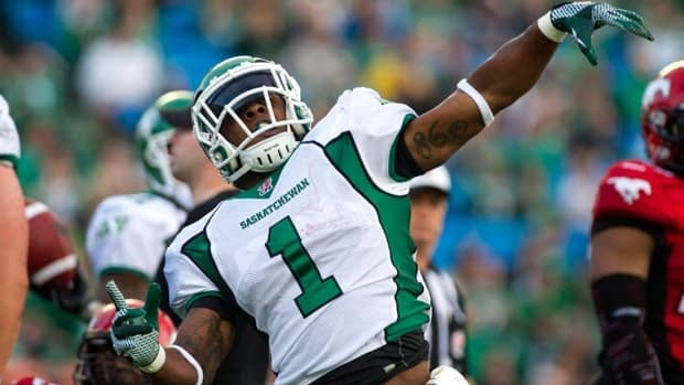 In two seasons with the Saskatchewan Roughriders, Kory Sheets racked up 2,875 rushing yards and 23 touchdowns.