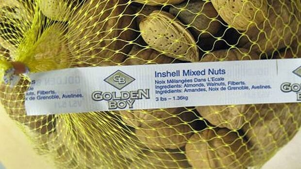 The recalled mixed nuts are almonds, walnuts and filberts.