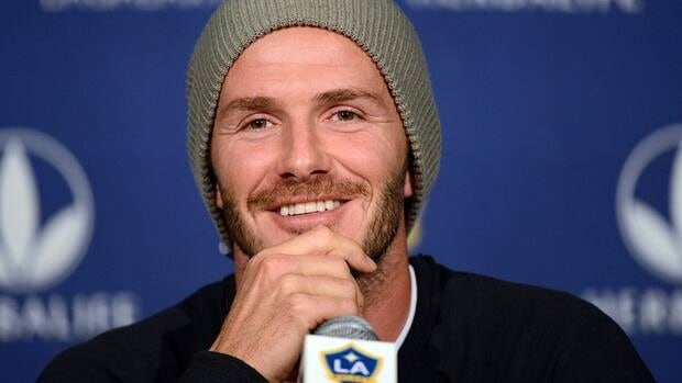 David Beckham of the LA Galaxy speaks to the media during his press conference after training for the 2012 MLS Cup at The Home Depot Center on November 29, 2012 in Carson, California.