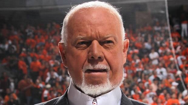 Don Cherry is the longtime host of Coach's Corner on CBC's Hockey Night in Canada.