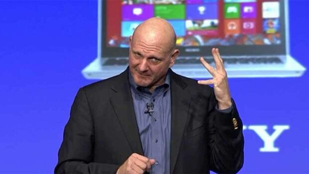 Microsoft chief executive Steve Ballmer presents Windows 8 in New York Thursday: the biggest change to the industry's dominant operating system in at least 17 years.