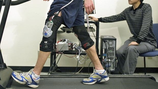 British scientists have developed a device, similar to this one, that exploits the mechanics of human walking to generate electricity.
