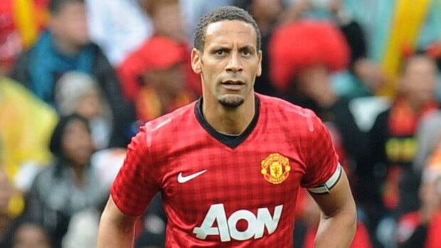 Rio Ferdinand of Manchester United during the MTN Football Invitational match against Ajax Cape Town at Cape Town Stadium on July 21, 2012.
