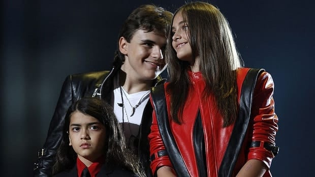 Michael Jackson's children -- from left, Blanket, Prince and Paris -- will take part in an imprint ceremony honouring their father at Grauman's Chinese Theatre in Hollywood.