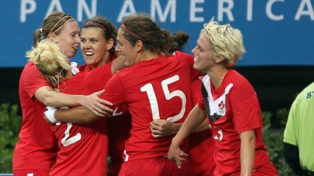 The Canadian women's soccer team won the gold medal at the 2011 Pan Am Games in Guadalajara, Mexico.