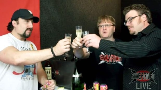 Comic actors (from left) John Paul Tremblay, Mike Smith and Robb Wells — better known by their alter egos Julian, Bubbles and Ricky, respectively — have acquired the rights to the Trailer Park Boys franchise and will be debuting a new season on their web channel SwearNet.com.