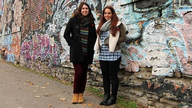 Nicole Rallis (left) and Layla Mashkoor made a 45-minute documentary about Hamilton for the final project of their McMaster graduate program in globalization studies.