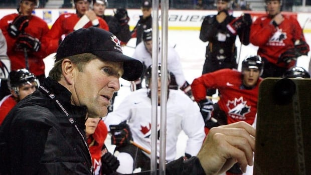 Mike Babcock, seen here at the Canadian Olympic orientation camp in Calgary in August 2009, will have assistants from the 2010 Vancouver Winter Games with him on the bench in Sochi. Claude Julien was named a third assistant on Monday.