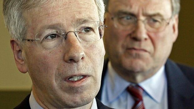 The commissioner of Canada Elections says he cannot penalize Stephane Dion, left, Ken Dryden and two other former leadership candidates who have outstanding unpaid loans from the party's 2006 leadership race.
