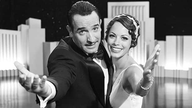 French director Michel Hazanavicius' black-and-white silent film follows George Valentin (Jean Dujardin, shown with Bérénice Bejo), a silent-era film star struggling to make it in the talkies.