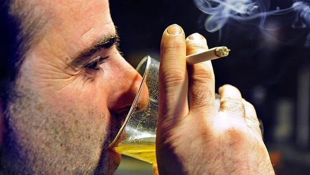 Smoking and drinking can each take two years off your life, according to a study of Ontario residents led by an Ottawa doctor.