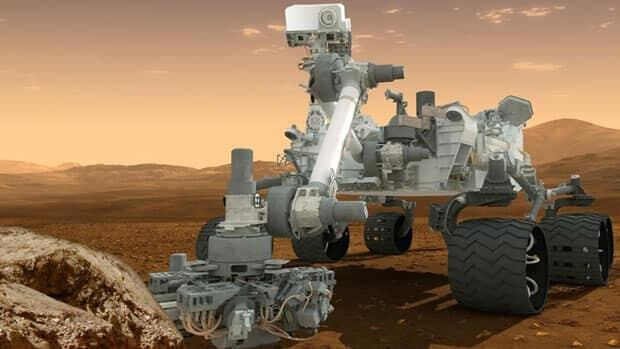 This artist's rendering shows the Curiosity rover on the surface of Mars. NASA announced Tuesday it plans to send another Curiosity-like rover to Mars in 2020.