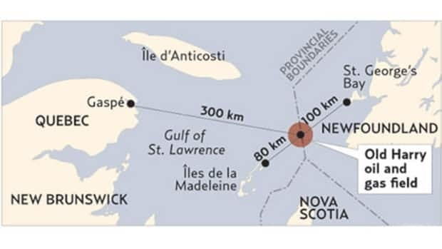 The proposed oil and gas exploration area is the Old Harry prospect, located midway between the Magdalen Islands and Cape Anguille in western Newfoundland.