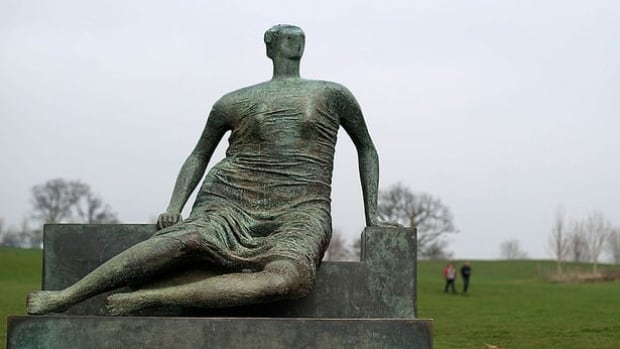 Henry Moore's sculpture Draped Seated Woman, now on display at Yorkshire Sculpture Park in Wakefield, England, is being considered for sale.