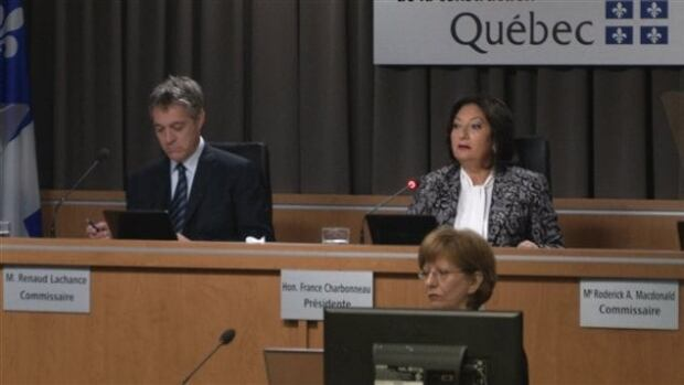 It's expected Judge France Charbonneau, right, will have a Hollywood-portrayed star witness before her inquiry in the coming weeks.