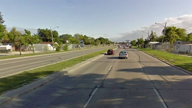 Part of Route 90 in Winnipeg.